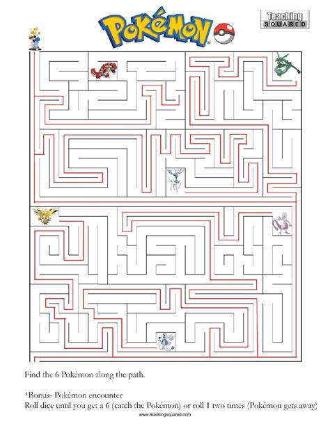 printable pokemon activity sheets pokemon maze worksheets images pokemon images
