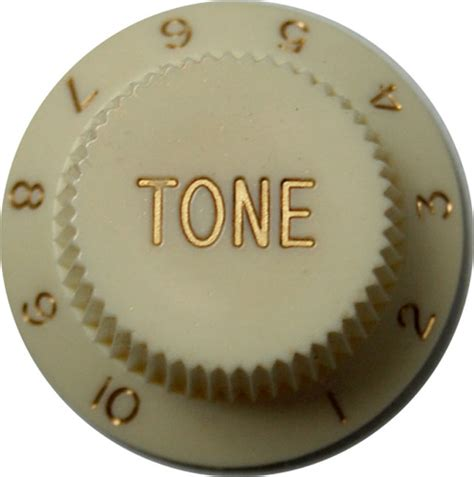 Stratocaster Tone Knobs by Strat Tone Knob Aged White