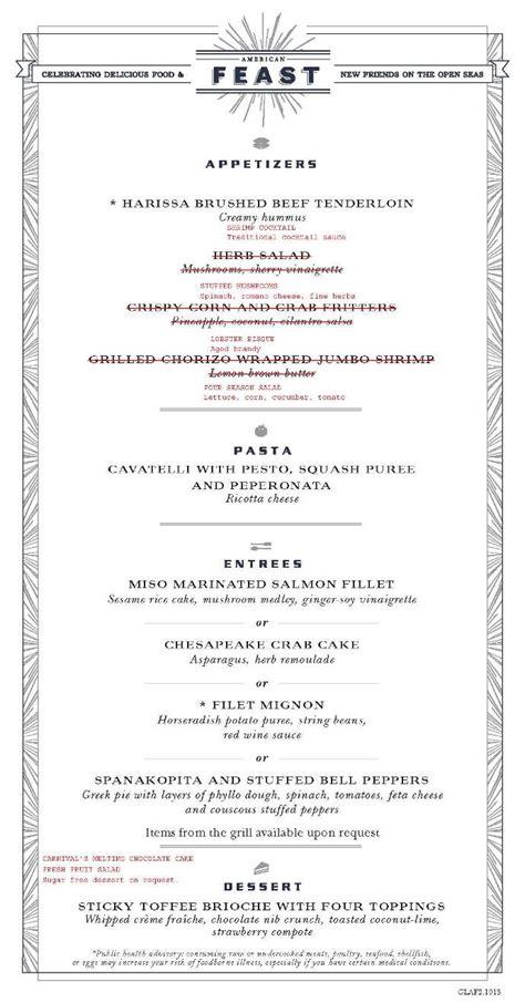 day 7 carnival mdr menu american feast 2