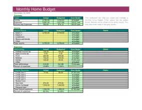 Home Budget Template by Best Photos Of Excel Home Budget Excel Home Budget