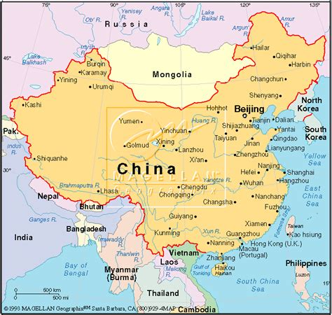 map of china and surrounding countries mapping lessons