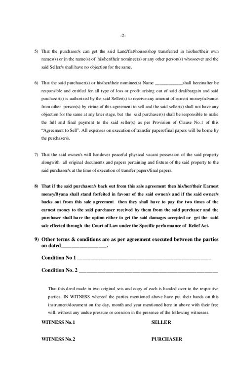 Agreement Letter For Selling A House Byana Property Sale Agreement