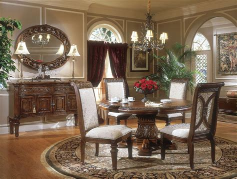 Michael Amini Dining Room Set Michael Amini Villagio Hazelnut Traditional Table Dining Room Set By Aico