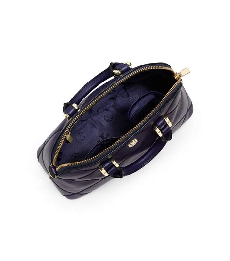 Burch Robinson Stitched Mini Dome Satchel Navy Import Quality lyst burch robinson stitched mini dome satchel in blue