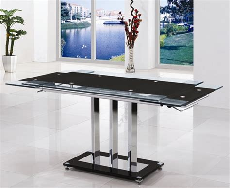 extending glass dining table dining table and chairs