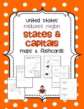 midwest region states capitals maps  mrslefave tpt