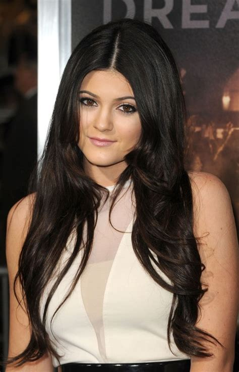 long black hair with part in the middle long black center part hairstyle hairstyles weekly