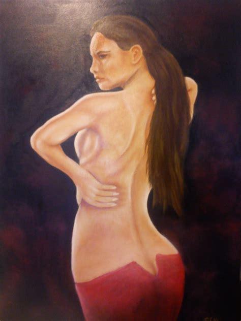 Angel Wall Murals robert klaya artwork woman in red skirt original