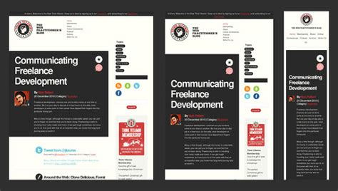 Responsive Top Bar by