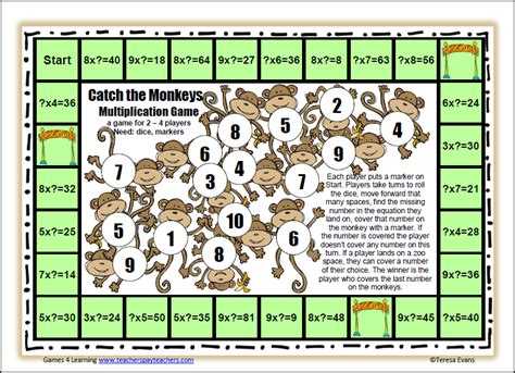 printable math division board games fun games 4 learning board games aren t boring
