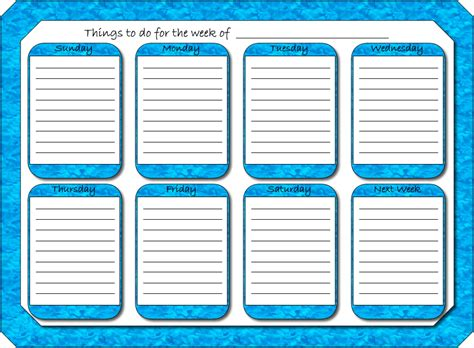 free printable planner monthly free printable weekly planners printable weekly planner
