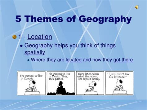 5 themes of geography canada ppt what is geography powerpoint presentation id