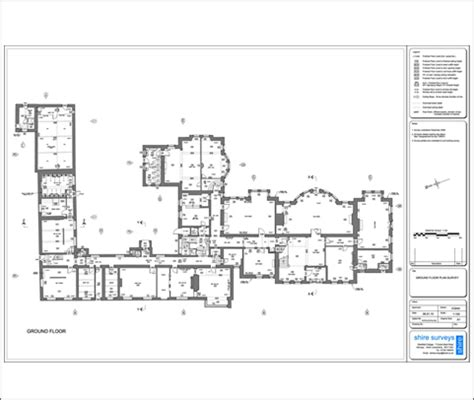 floor plan title block measured building surveys reflectorless edm digital