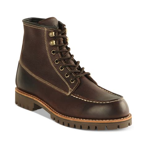 marc mens boots marc new york moc toe boots in brown for lyst