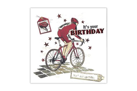 Bicycle Cyclist Blue Cards blue racer bicycle birthday card cyclemiles