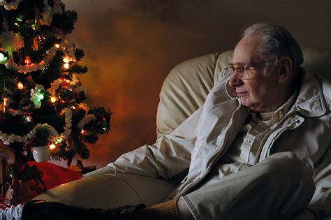 christmas elderly minimize the blues for seniors suffering from depression