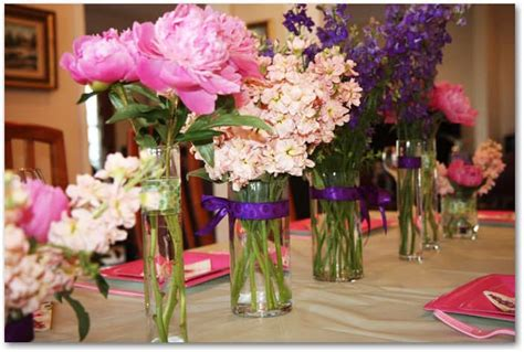 bridal shower table decorations flowers how to make peony centerpieces for a diy wedding shower
