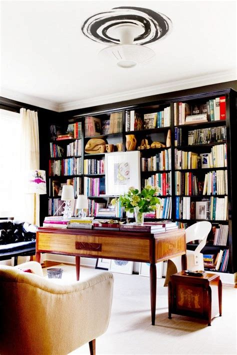 library built in bookshelves tour a designer s own luxe eclectic virginia home