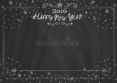classic new year background blackboard border and background with new year drawing
