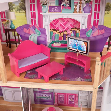 kidkraft 18 inch doll house kidkraft 18 inch colorful dollhouse doll manor with jumbo furniture 65830 cad 252 27