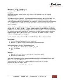 Cover Letter One Year Experience Pl Sql Developer Resume Best Resume Gallery