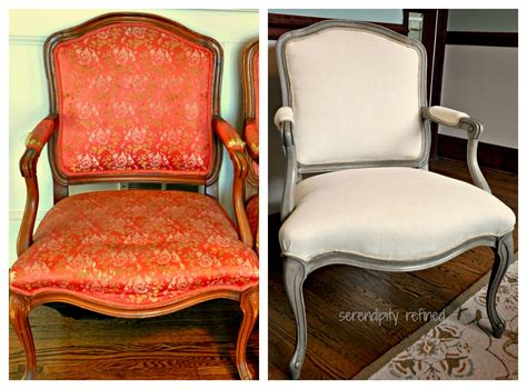 chalk paint in fabric serendipity refined style side chair makeover