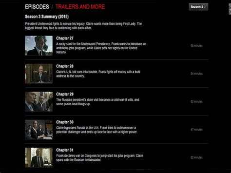 house of cards episode summaries house of cards season 3 episodes leak 16 days before premiere filmibeat
