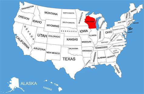 wisconsin on us map map of wisconsin guide of the world