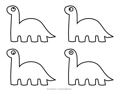 printable dinosaur templates clipart best