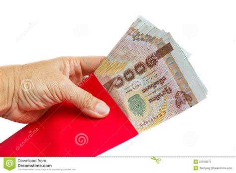 make new year money envelope holding envelopes with money stock photo image