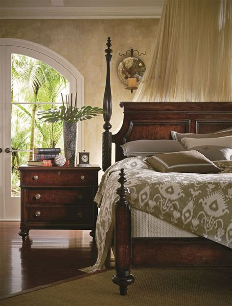 colonial bedroom furniture british colonial caribe poster bedroom set from stanley