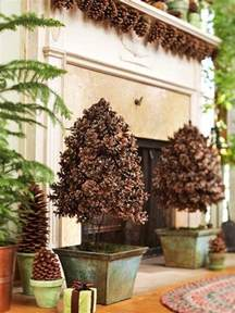Pine Cone Home Decor by 35 Gorgeous Holiday Mantel Decorating Ideas With Pine