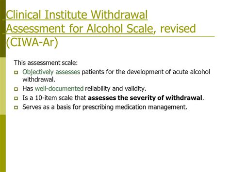 Detox Assessment by Utilizing The Withdrawal Order Form
