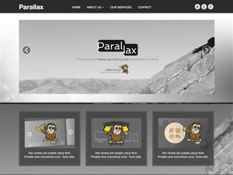 themes wordpress parallax free parallax wordpress theme free download