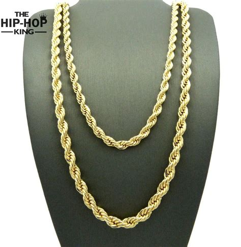 hip hop rapper s 3mm 30 quot rope chain mens 14k yellow gold
