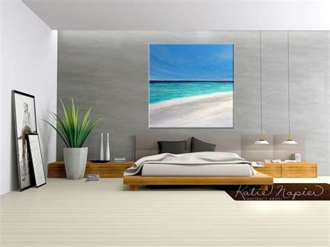 abstract bedroom art vancouver abstract art large beach painting katie
