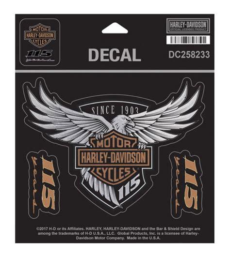 Pin Cor Bikers 3d Tshirt Anniv harley davidson 115th anniversary eagle decal medium 5 25 x 4 limited edition ebay