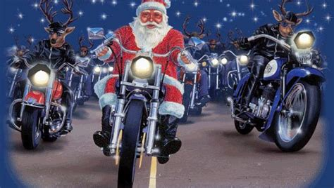 motorcycles harley davidson santa claus reindeer merry christmas animation animations animated