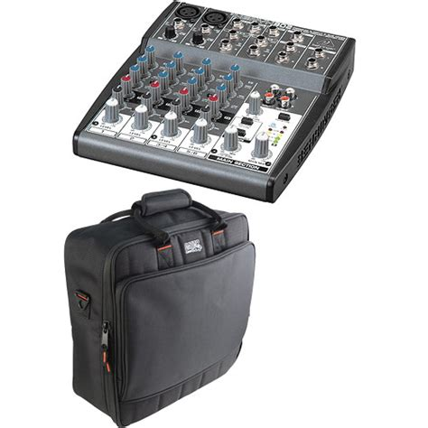 Mixer Behringer Xenyx 8 Channel Behringer Xenyx 802 8 Channel Mixer With Padded Bag Kit B H