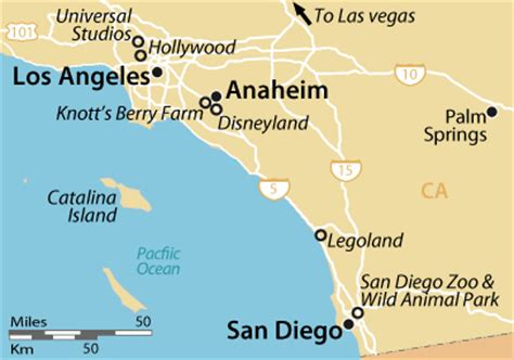 map of california from los angeles to san francisco los angeles san diego map