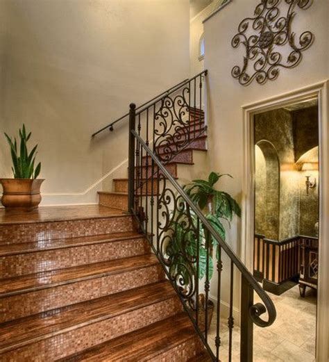 idea for painting vintage metal stair railing like the