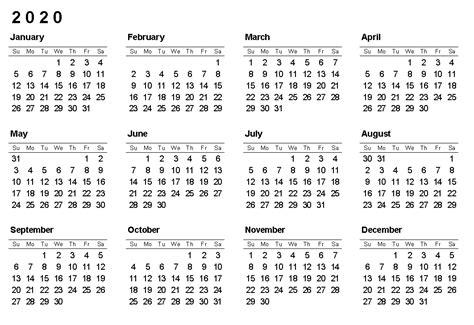 yearly printable calendar   holidays
