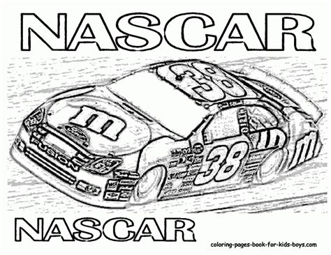 Nascar 18 Coloring Pages Coloring Pages Nascar Coloring Page