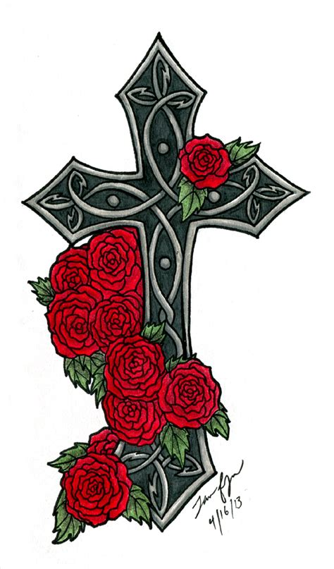 pictures of crosses with roses clipart best