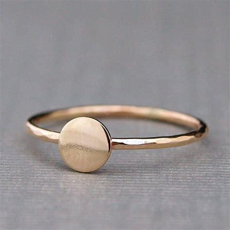 tiny gold ring plain gold circle ring simple