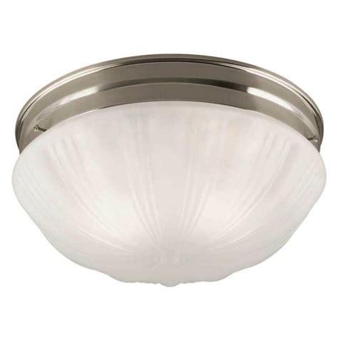 westinghouse 67212 2 light brushed nickel ceiling light