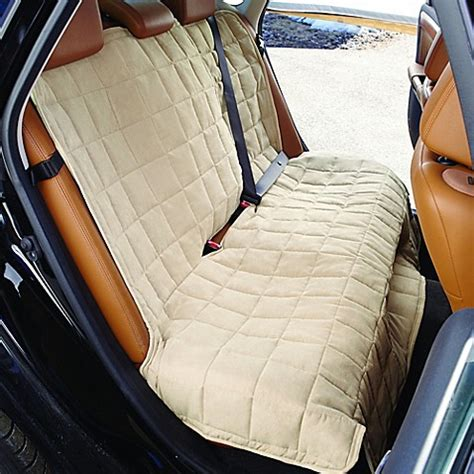 waterproof bench seat cover sure fit 174 waterproof soft suede bench seat cover bed bath beyond