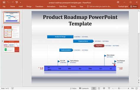 project roadmap template powerpoint free bountr info