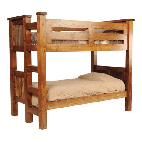 Wood Loft Beds by Wasatch Reclaimed Wood Riverwood Bunk Bed