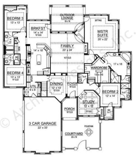two bedroom hall kitchen house plans ridgeview ranch courtyard house plans ranch floor